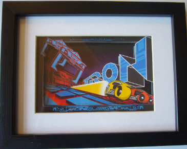 TRON Arcade Art  3D Diorama Shadow Box